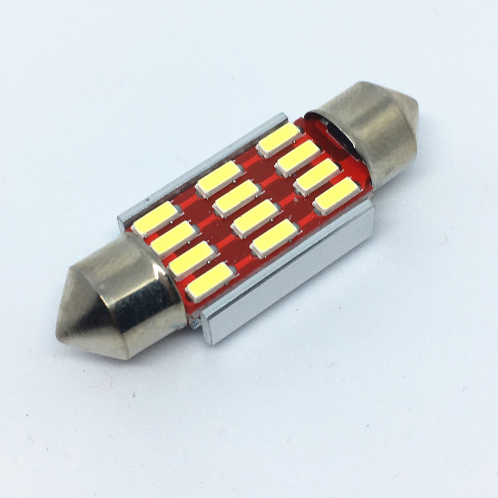 100pcs Festoon-36mm 31mm 39mm 41mm led Reading Bulb White C5W C10W 4014 LED Car Festoon Lights Auto Interior Bicuspid Dome Lamp