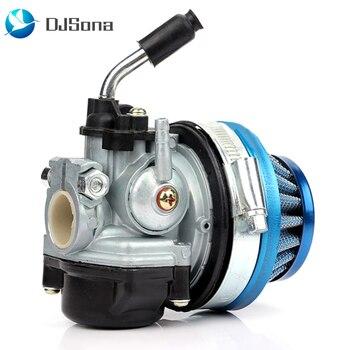 Carburador de motor del filtro de aire de la bicicleta para 37 50 80CC conjunto de motor de 2 tiempos para 47cc 49cc Mini Moto ATV Dirt Pocket bici