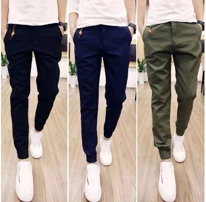 2019 New Style Men's Trousers Spring And Summer-Ankle Banded Pants Pencil Pants Breeches Washing Processing Casual Pants K53