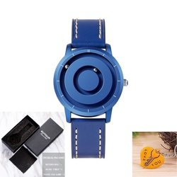 Black Technology Magnetic Ball Mens Watch Colorful Choosable Man Woman Minimalist Novelty Magnetic Ball Show Couple Watch Gift