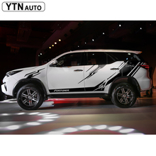 car stickers 4X4 off road body side door graphic vinyls sticker modified decals custom for toyota FORTUNER