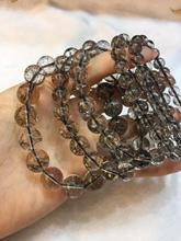 Natural Brazil Black Rutilated Quartz Crystal Woman Man Round Beads Bracelet 7mm 8mm 9mm 10mm 11mm From Jewelry AAAA