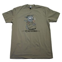 Gato pessoas fidel catstro engraçado gato camisa