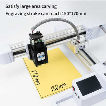10000mw Mini Laser Marking Machine 15cmX15cm Wifi Phone Connection Offline Engraving Small Diy Cutting Wood Lettering Stainless