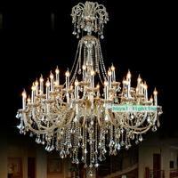 Grande hotel lustre luminária led entrada luz de cristal iluminação da escada foyer cognac lustres cristal casa lamparas h 175 cm