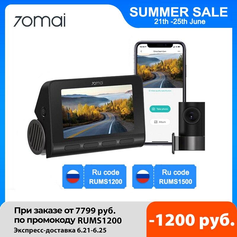 (15$ купон)Видеорегистратор 70mai A800S 4K Ultra HD UHD, камера двойного видения GPS со встроенным разрешением 3840x2160