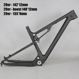 Image 1 - 29 Full Suspension 142*12mm MTB Bicycle Carbon frame 29er with 135*9mm /29er boost suspension  148*12 mountain bike frame FM078