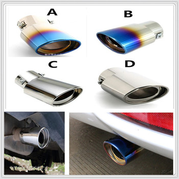 Stainless auto Steel Car Exhaust Muffler Tip cover pipe Tail For BMW E34 F10 F20 E92 E38 E91 E53 E70 X5 M M3 E46 E39 E38 E90 image