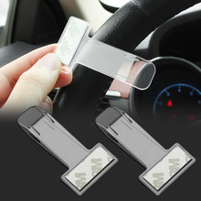 2Pcs Car Ticket Clips Vehicle Motorhome Van Bus Windscreen Parking Ticket Clip Holder Pass 7.4*3.95*0.1cm Plastic(China)