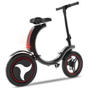 Urban folding electric bicycle mini ebike 14inch Wheel 300W Motor Women E Bike Foldable Electric Bicycle Scooter