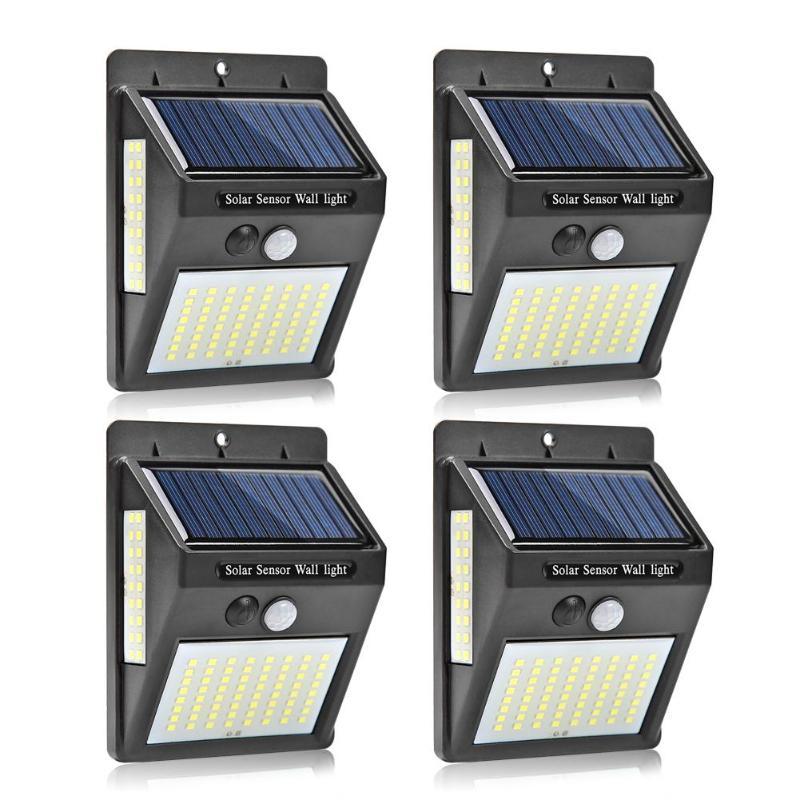 100 LEDs Outdoor Solar Light PIR Motion Sensor Solar Garden Light Energy Saving Street Lamp Wall Light Sunlight Dropshipping