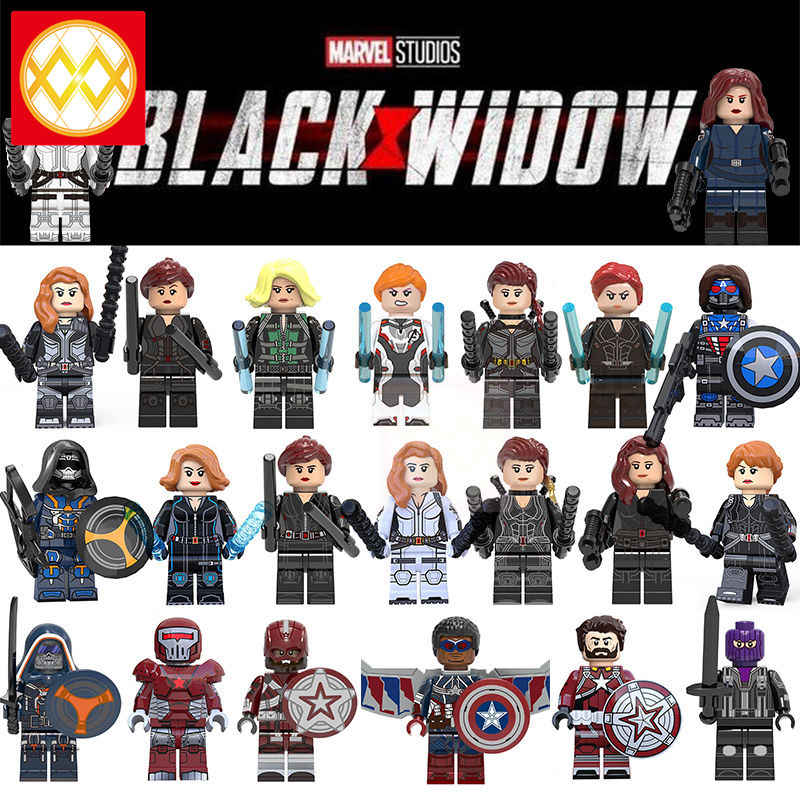 Spedizione Gratuita Marvel Super Heroes Series Movie Nero Black Widow Taskmaster Thanos Dottor Strange Figure Building Blocks Giocattoli