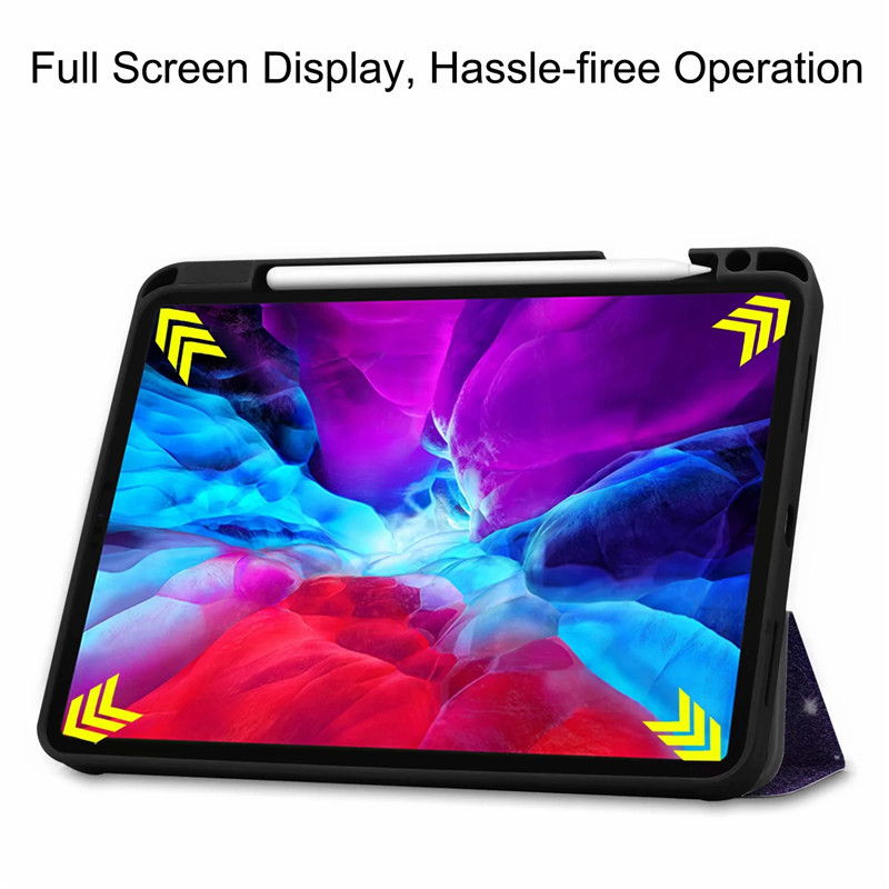 Case 9 Cover Back Leather Stand Painted iPad iPad Smart PU Pro TPU For For 12 2020 Case
