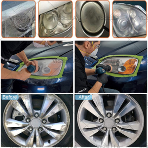 """Image 5 - 3 """"esponja do carro almofada de polimento disco polimento buffer depilação adaptador broca kits para reparação farol roda polidor refurbish ferramentas"""