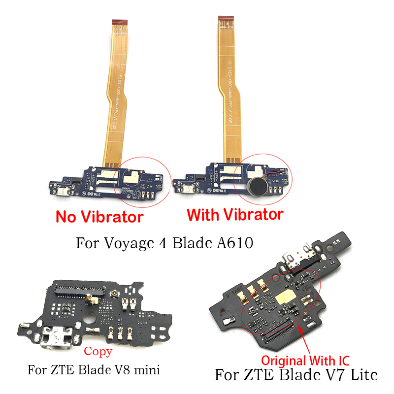 For ZTE Blade A610 A510 V6 Plus /V7 Lite / V8 Mini / X3 A452 / Axon 9  Axon7 A2017 USB Charging Port Connector Board Flex Cable