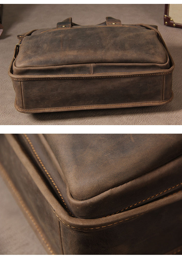 H60dbb447567c4b46ae71f55eb2a8370eg MAHEU Vintage Leather Mens Briefcase With Pockets Cowhide Bag On Business Suitcase Crazy Horse Leather Laptop Bags 2019 Design