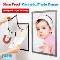 Photo Frame A4 A3 Magnetico Cadre Foto Del Bambino Slam A Prova di Foto Magnetico Frigorifero Decorazione Della Parete Porta Retrato Marco Foto