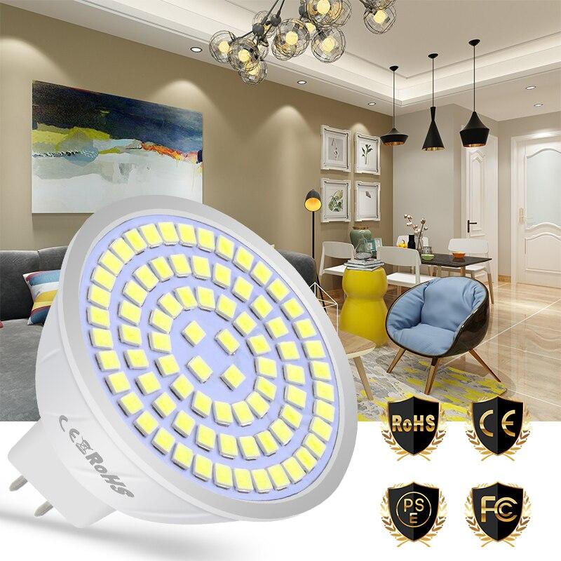 WENNI MR16 Spot Light LED Bulb E27 220V GU10 Spotlight LED Lamp E14 Bombilla 48 60 80led Ampoule B22 Energy Saving GU5.3 2835SMD