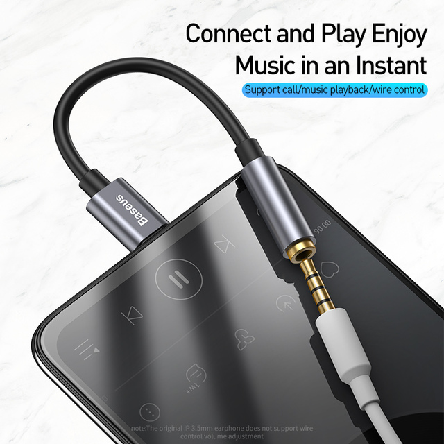 Baseus USB Type C to 3.5mm Jack OTG Adapter USB-C Type-C to 3.5 mm Headphone Audio Aux Cable For Xiaomi Mi 10 9 Oneplus 8 7 Pro