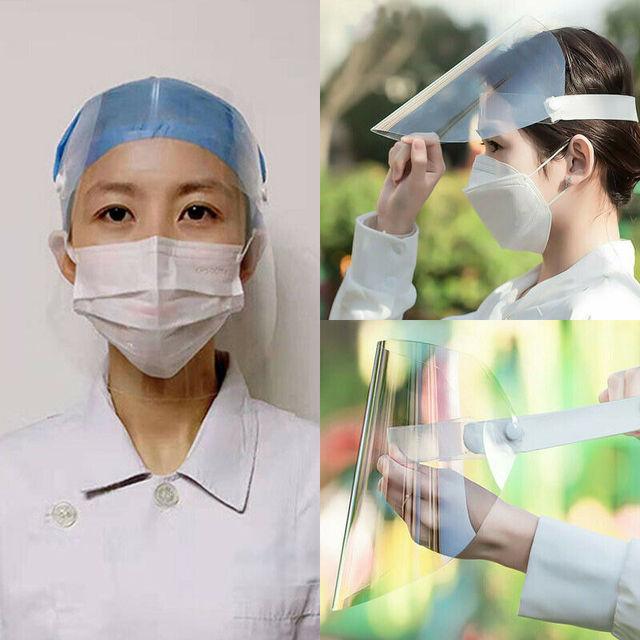 Transparent Adjustable Full Face Shield Plastic Anti-fog Anti Saliva Splash Protective Mask Dust Cover Mask Shield 1