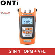 FTTH Tool Kit 15KM Red Laser Cable Tester Pen with VFL Light Source Portable Fiber Optical Power Meter Visual Fault Locator 15mW