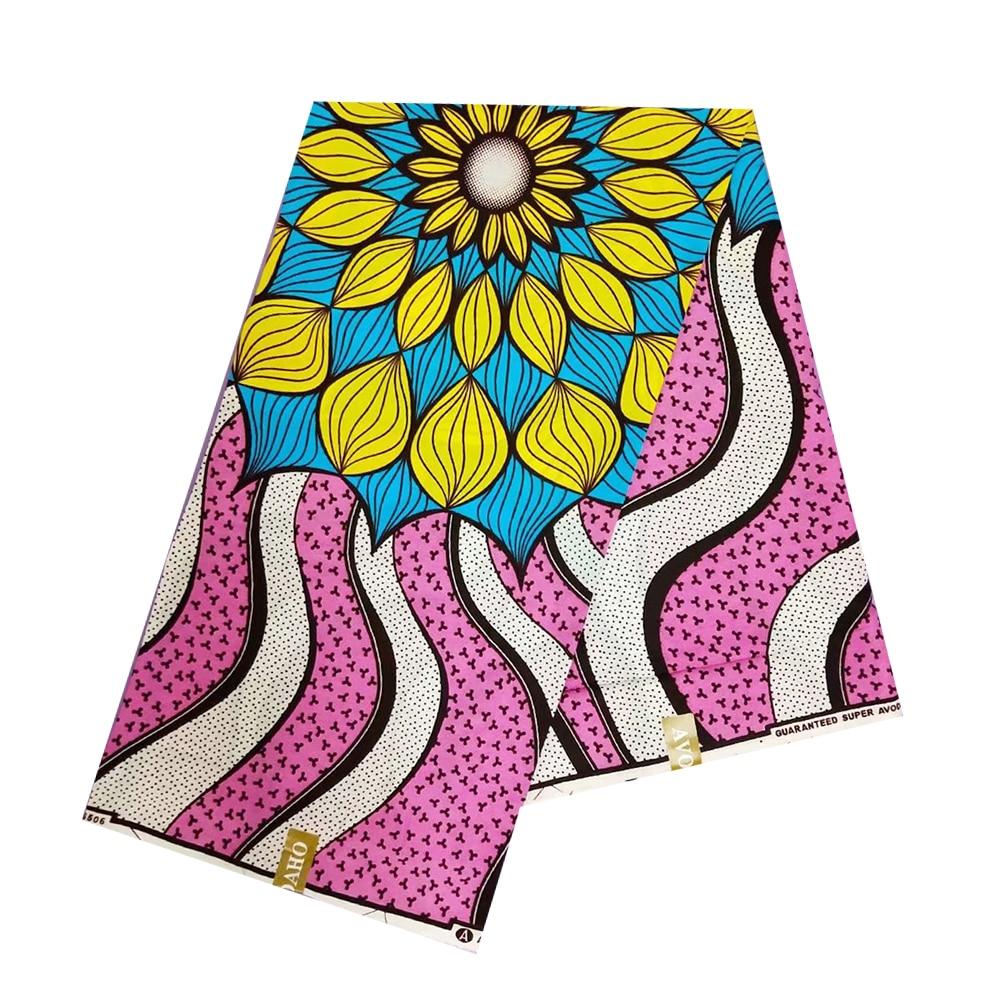 African Wax Pange Fabric 100% Cotton High Quality Beautiful Real Dutch Print Wax For Ghana Nigerian Ankara Dress 6 Yards