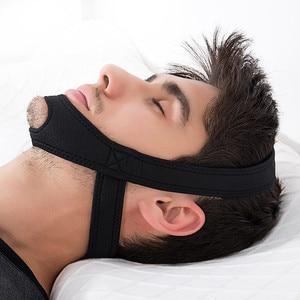1pcs Neoprene Anti Snoring Stop Snore Chin Strap Belt Anti Apnea Jaw Solution Sleep Support Apnea Belt Sleeping Mask Care Tools