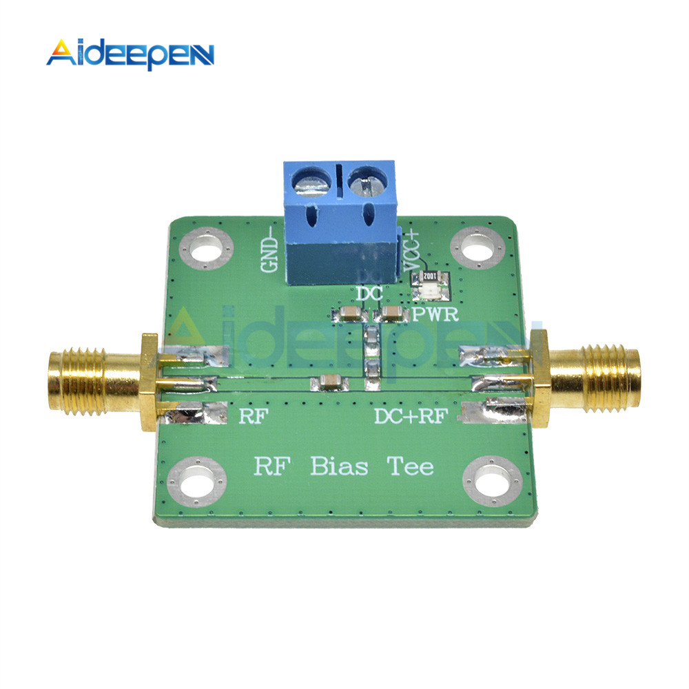 Bias Tee Broadband 10-6000MHz 6GHz RF Microwave DC bias DC Blocker for HAM Radio Amplifier Board RTL SDR LNA Low Noise image