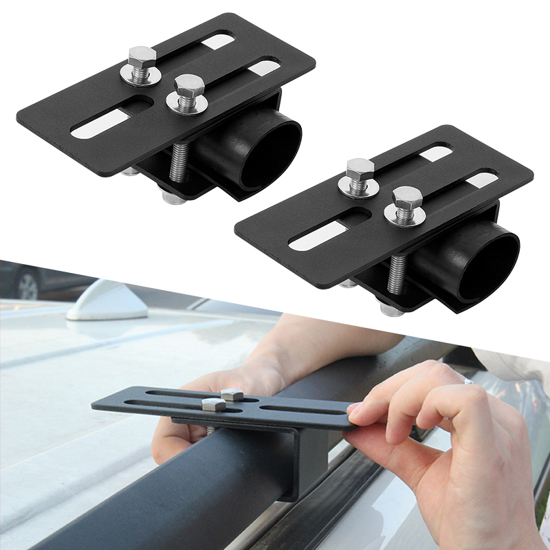 2 Set Car Roof Rack Light Bracket Crossbar Luggage-rack Mounting Holder For Toyota Honda Nissan Ford VW SUV Etc Car Accessories
