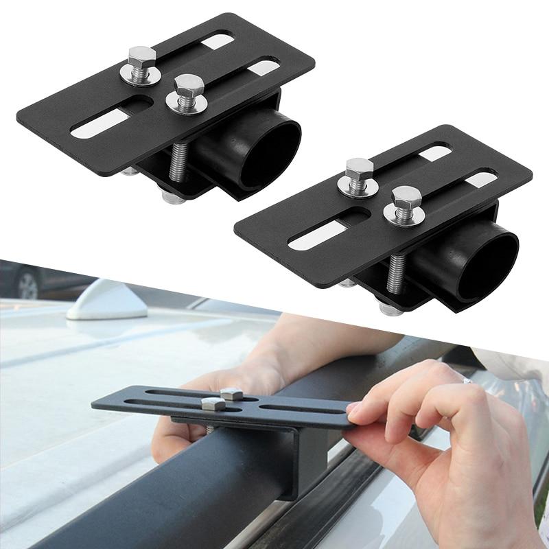 2 conjunto de carro telhado rack de luz suporte barra transversal bagagem-rack suporte de montagem para toyota honda nissan ford vw suv etc acessórios do carro