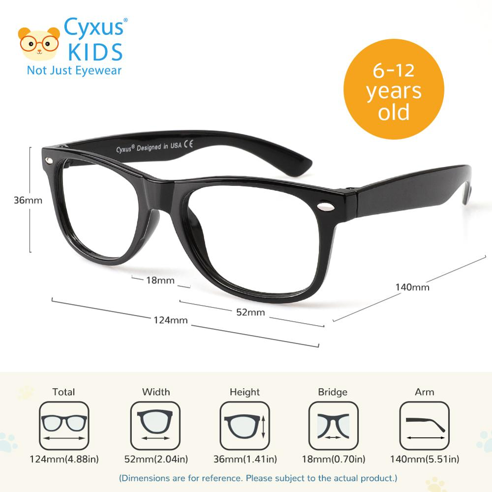 Cyxus Kids Computer Glasses Blue Light Blocking  for Teens Lightweight Ultem Frame Eyewear For Boys Girls Ages 6~14 6101