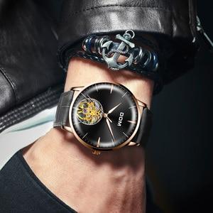 Image 4 - DOM גברים שעונים למעלה מותג יוקרה שלד שעון גברים ספורט עור Tourbillon אוטומטי מכאני שעוני יד אופנה M 1268GL 1M