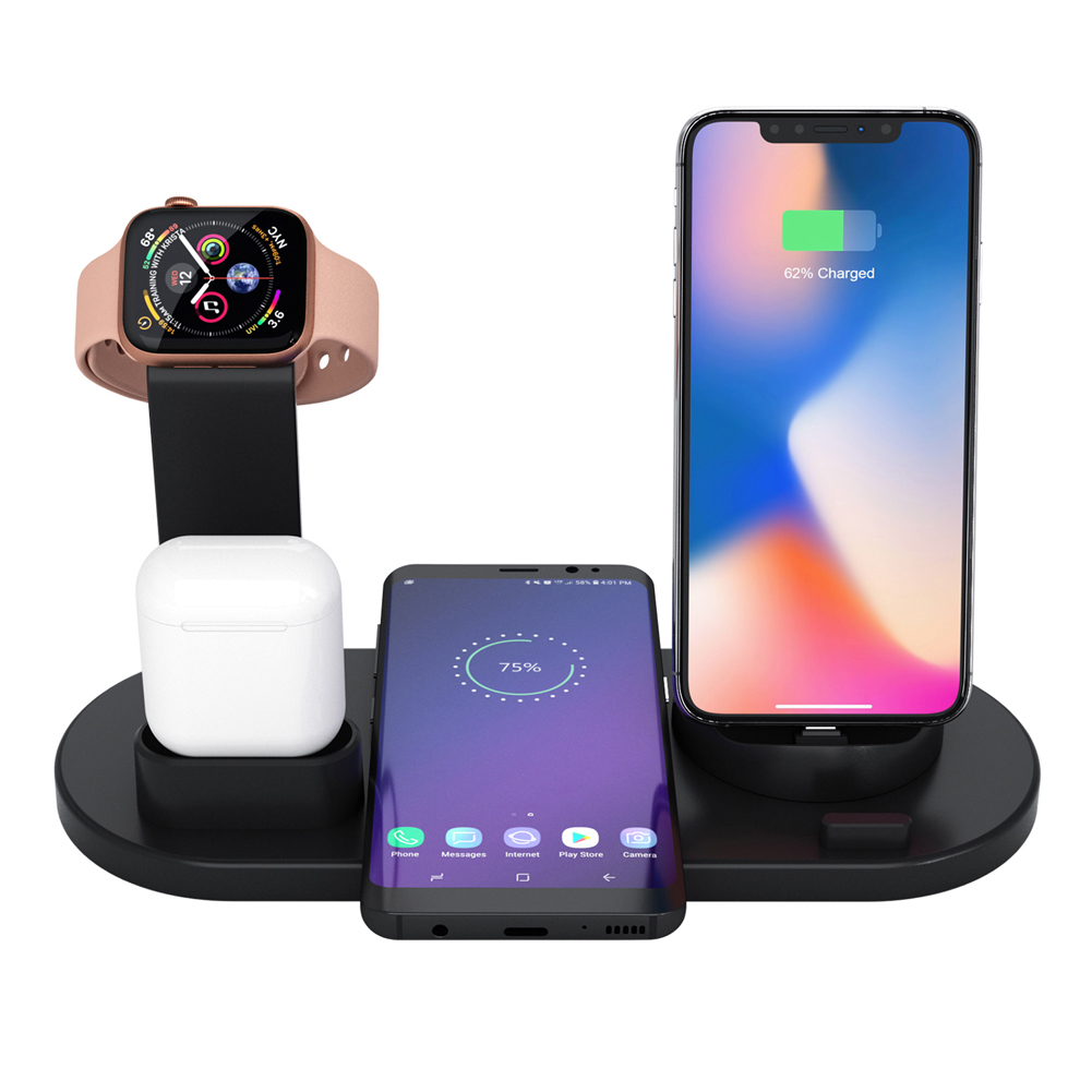 4 in 1 Wireless Charging Stand Mobile Phone Charger Stand for Phone and Watch