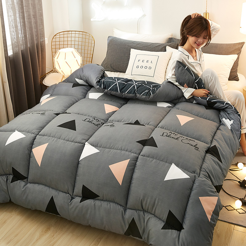 Winter Thick Duvet Luxury Printing Fabric Cartoon Style Comforter Soft And Warm Quilt Bed Set Twin Queen King Size Blanket CF3