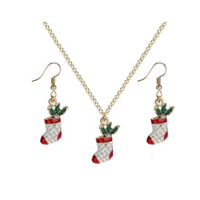 Hello Miss New White Red Socks necklace Necklace Set Christmas Wind Decoration Jewelry