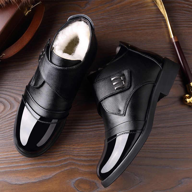 DM10冬のブーツ男性2020新100% ウールスーパー暖かいファッションオートバイzapatosデhombre