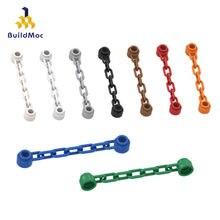 BuildMOC uyumlu toplar parçacıklar 92338 1x6 zinciri yapı taşları parçaları DIY LOGO eğitim