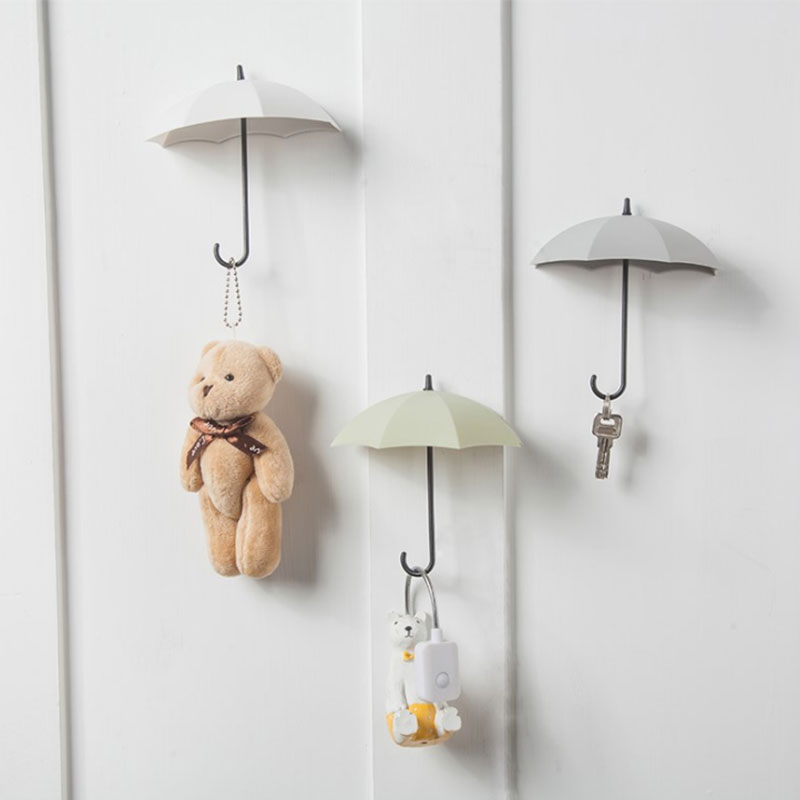 Hooks For Hanging Creative Umbrella Shaped Storage Hook Hanger Wall Hooks Small Decorative For Home Decor Key Holder 3piece