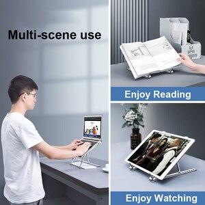 Image 5 - Suporte do portátil ajustável suporte para notebook mackbook pro base de computador ar riser portátil portátil suporte de refrigeração