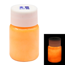 Gold Glow In The Dark Luminous Sand Acrylic Fluorescent Paint Party Bright Star Nail Decoration Halloween 20g