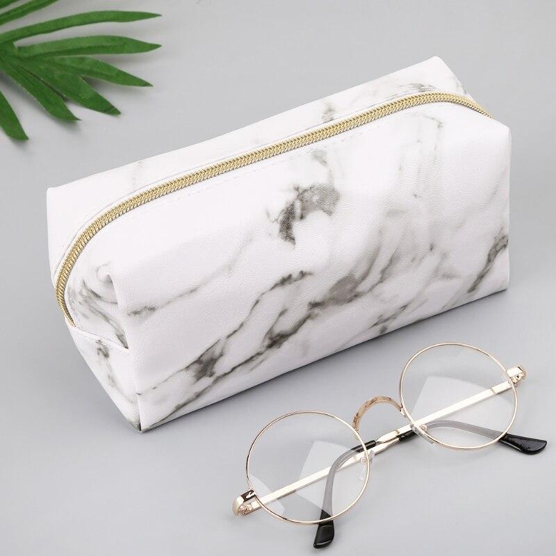 Большой милый чехол для карандаша, сумки на молнии, принадлежности для хранения мраморного макияжа 1014|Пеналы| | АлиЭкспресс