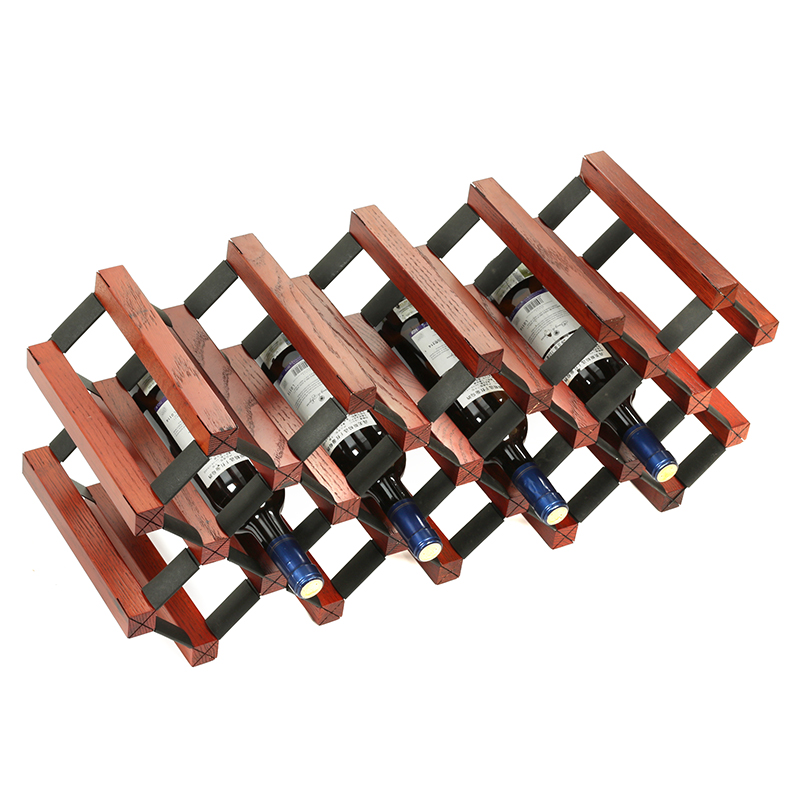 Wine Rack Oak Tree Wine Dense Wooden Decoration Rack House Room Bottle Wine Rack Display Cabinet Lake