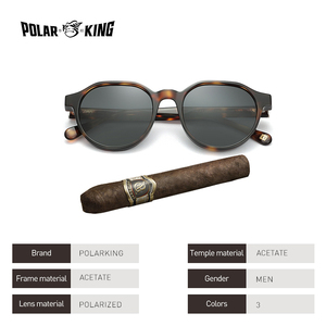 Image 3 - Polarking New Acetate Polarized Sunglasses Brand Vintage Style Men Sun Glasses Handmade For Male Uv400 Protection Shades