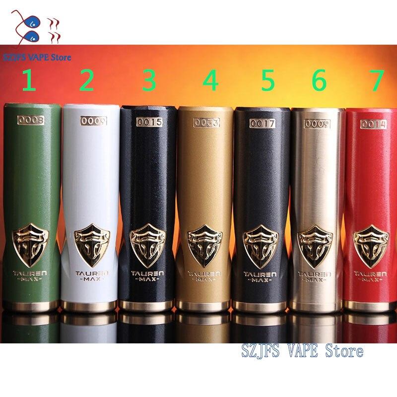 THC Tauren Max MOD Mech 24mm Diameter Waterproof / Shockproof / Dustproof No. 18650 Battery Vape Vaporizer THC Tauren Vs Coilart