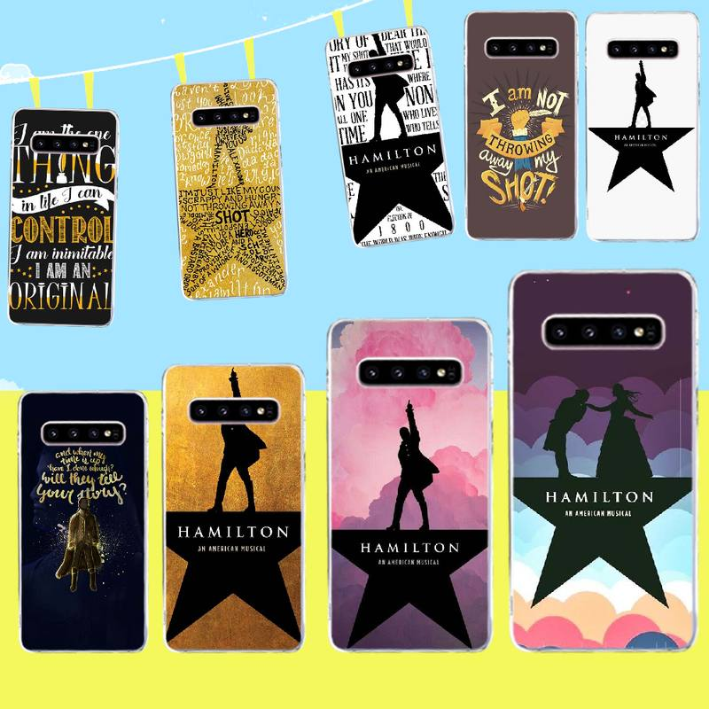 PENGHUWAN Hamilton Musical Lyrics Cover Soft Shell Phone Case for Samsung S9 plus S5 S6 S7 edge S8 S10 plus image