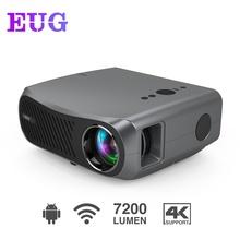 7200 lumenów wbudowany Android 6 0 HD 1080p rzutnik kina domowego obsługa 4K USB PC multimedialny film Proyector Beamer tanie tanio CAIWEI Korekcja ręczna CN (pochodzenie) Projektor cyfrowy 16 09 160W 1920x1080 dpi 7000 lumenów 900D 40-200 cali Led light
