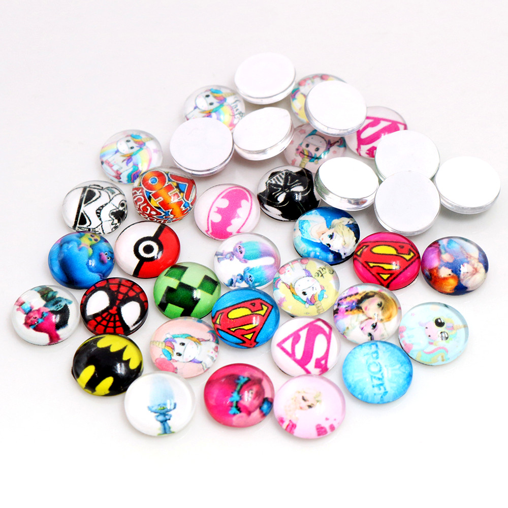 Clearance 8mm 10mm 12mm 14mm 20mm 25mm Mix Random Cabochons Fit 8-25mm 18x25mm Cabochon Base For Bracelet Ear Studs