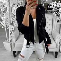 Herbst Frauen Grund Jacken 2019 Schwarz Dünne Dame Jacke Süße Weibliche Zipper Femme Outwear Plus Größe Mäntel Langarm Jacken 3XL