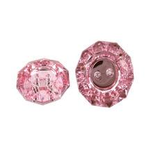 30 шт., розовые акриловые пуговицы, 2 отверстия, стразы, акриловые пуговицы для шитья, женская одежда, аксессуары для одежды, 18 мм