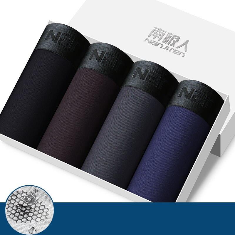 Antibatterico traspirante comodo di alta qualità della biancheria intima degli uomini 2/4 pz/lotto per la borsa della posta dei pantaloni del pugile degli uomini